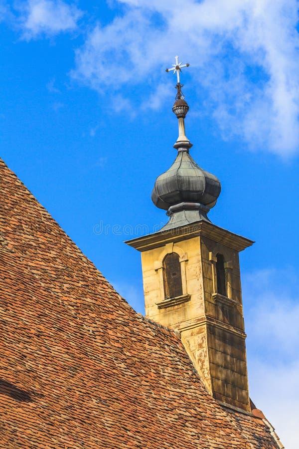 Igreja roof fotografia de stock