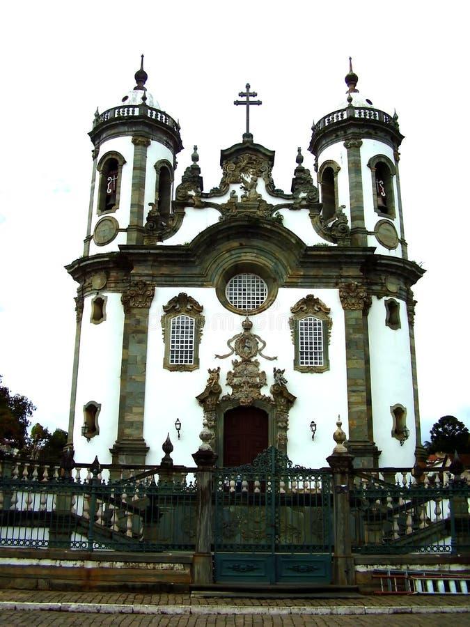 Igreja São Francisco de Assis. São João Del Rei, Minas Gerais, Brazil royalty free stock photo