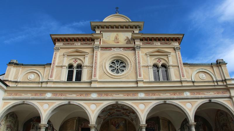 Igreja Sacro Monte Madonna del Sasso imagem de stock royalty free