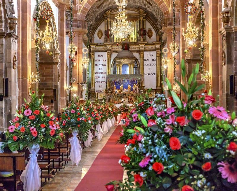 Igreja San Miguel de Allende Mexico de Parroquia da união do Natal foto de stock royalty free