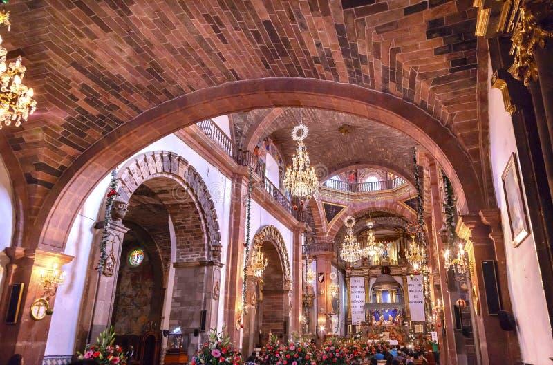 Igreja San Miguel de Allende Mexico de Parroquia do Natal da basílica imagem de stock