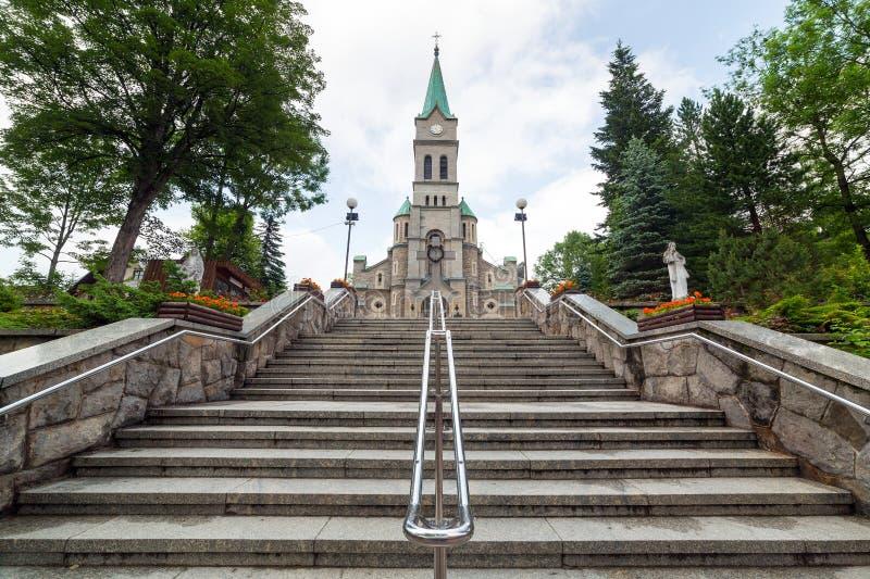 Igreja santamente da família em Zakopane fotos de stock