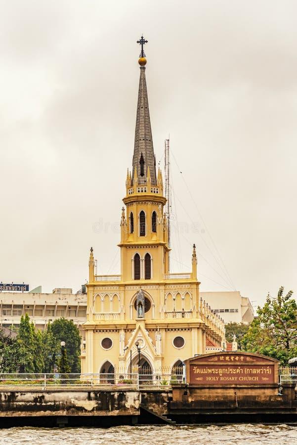 A igreja santamente do rosário é igreja católica romana em Banguecoque, Tailândia fotos de stock royalty free