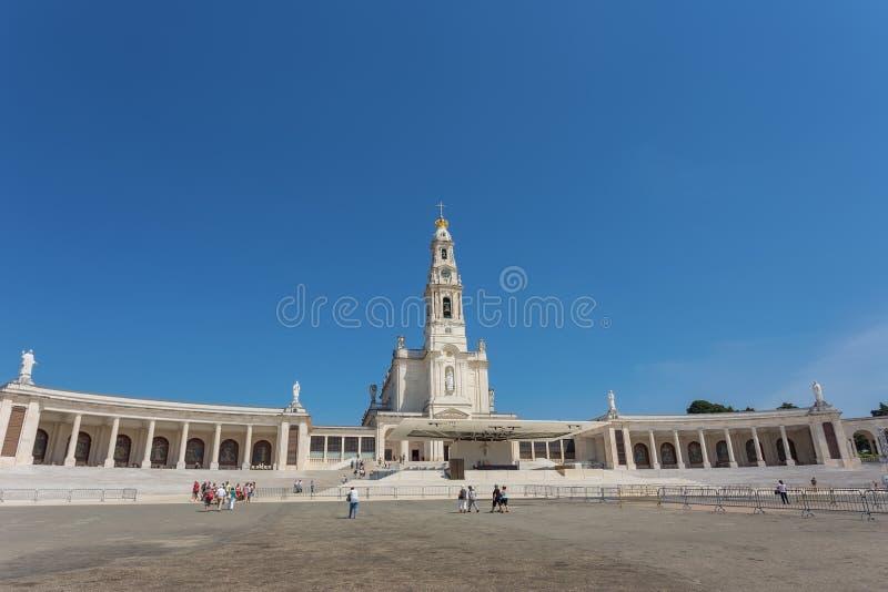 Igreja santamente em Fatima Portugal fotografia de stock