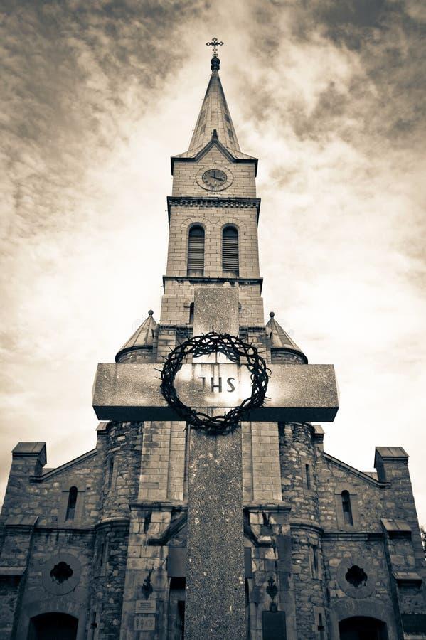 Igreja santamente em Zakopane, Poland da família fotos de stock royalty free