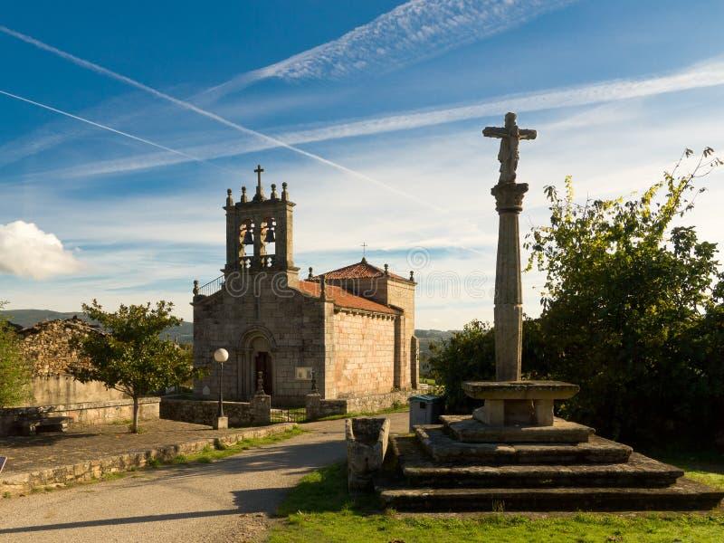 Igreja Santiago de Taboada do Romanesque em Silleda imagem de stock royalty free