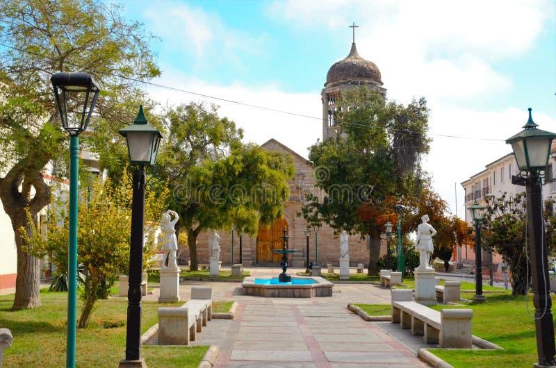Igreja Santo Domingo no La Serena, o Chile foto de stock royalty free