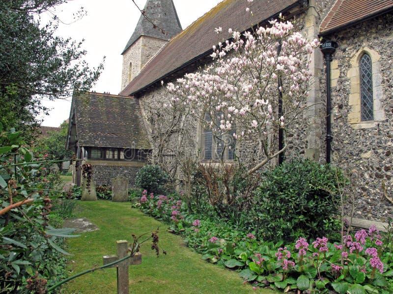 A igreja Seaford de St Leonard fotografia de stock royalty free
