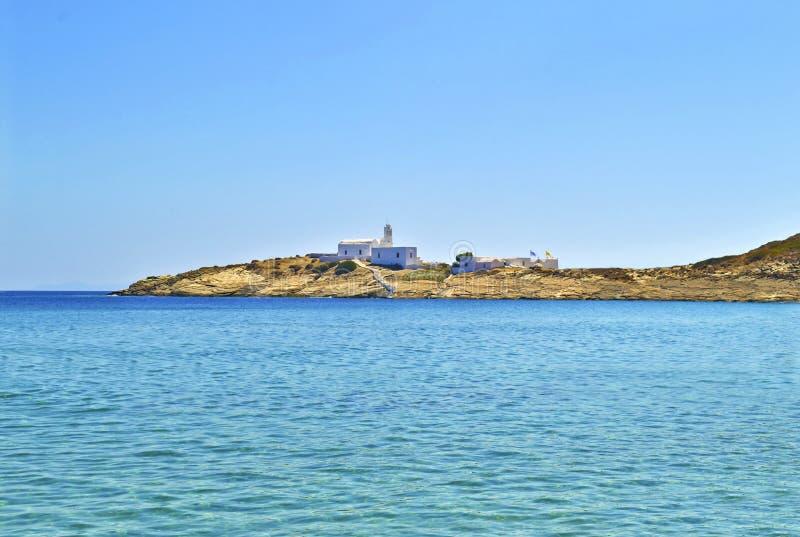 Igreja Sifnos Grécia de Panaghia Chrisopigi imagens de stock royalty free