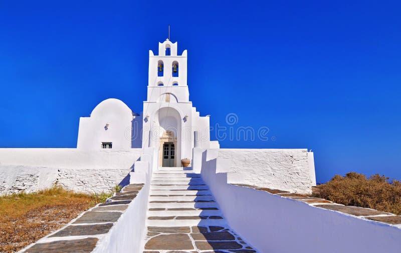 Igreja Sifnos Grécia de Panaghia Chrisopigi fotografia de stock royalty free