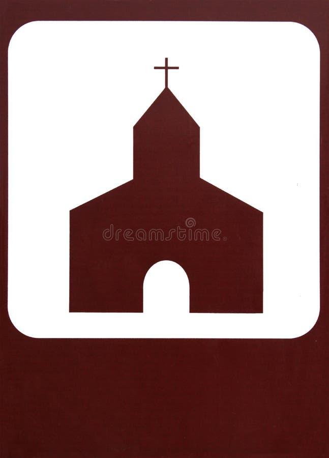 Igreja-sinal fotos de stock royalty free