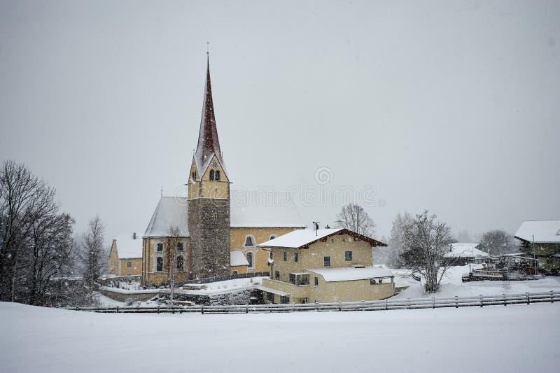 Igreja sobre o Achensee, AUSTRIA/Achensee imagem de stock royalty free
