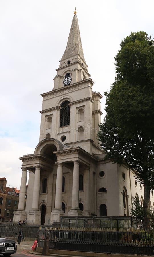 Igreja Spitalfields de Cristo fotografia de stock royalty free