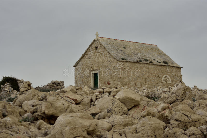 IGREJA St John de Trogir no cabo PLANKA fotografia de stock royalty free