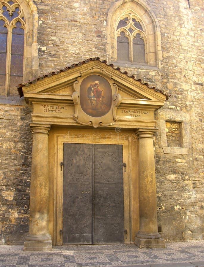 Igreja St Martin em uma parede foto de stock