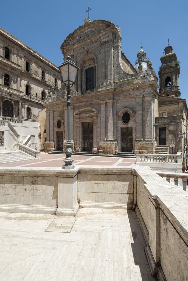 Igreja St Mary do caltagirone catania Sicília Itália Europa da montagem foto de stock royalty free