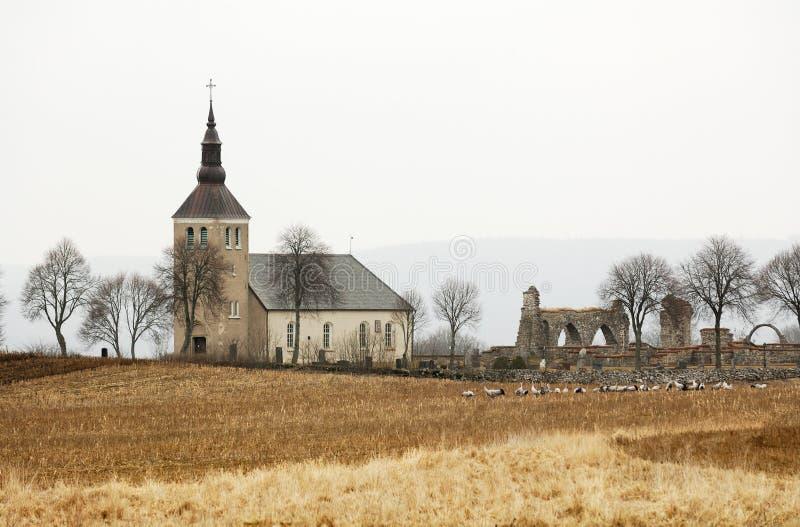 Igreja sueco histórica imagens de stock