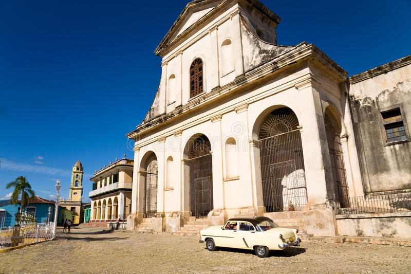 Igreja, Trinidad fotografia de stock