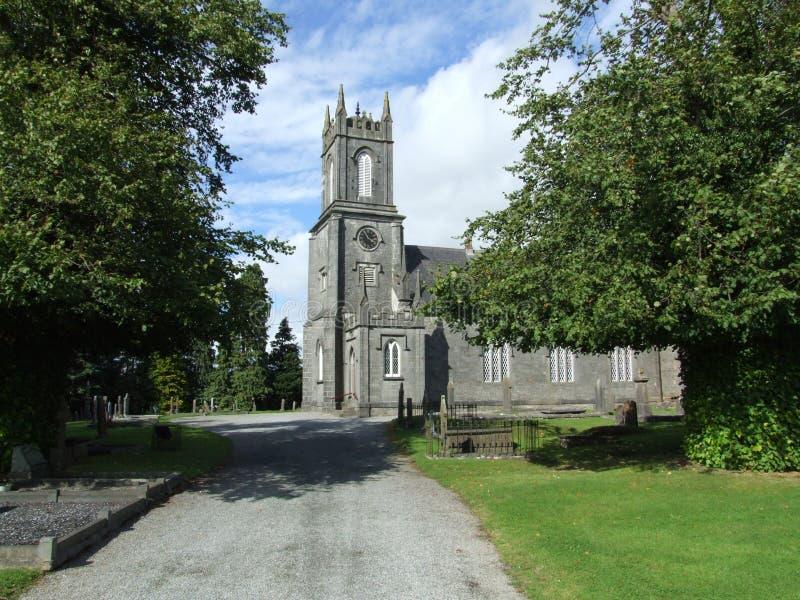 Igreja velha cênico fotografia de stock