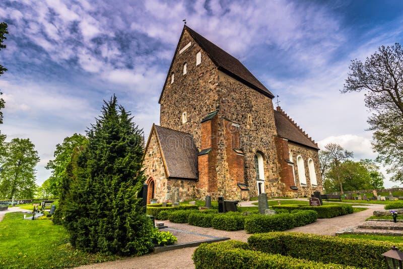 Igreja velha de Gamla Upsália, Suécia fotografia de stock