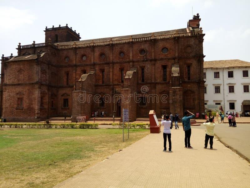 Igreja velha em Goa fotos de stock royalty free