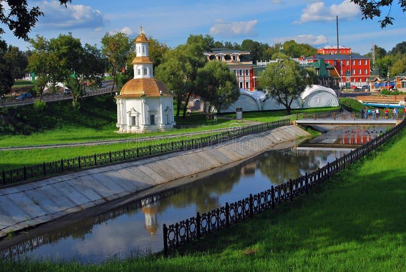 Igreja velha em Sergiev Posad, Rússia imagens de stock royalty free