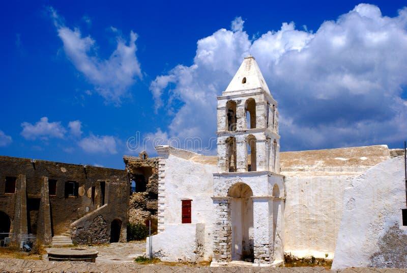 Igreja velha na ilha de Kythera foto de stock royalty free