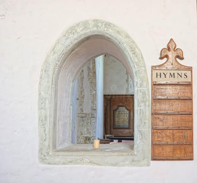 Igreja velha Placa & arco do hino fotografia de stock
