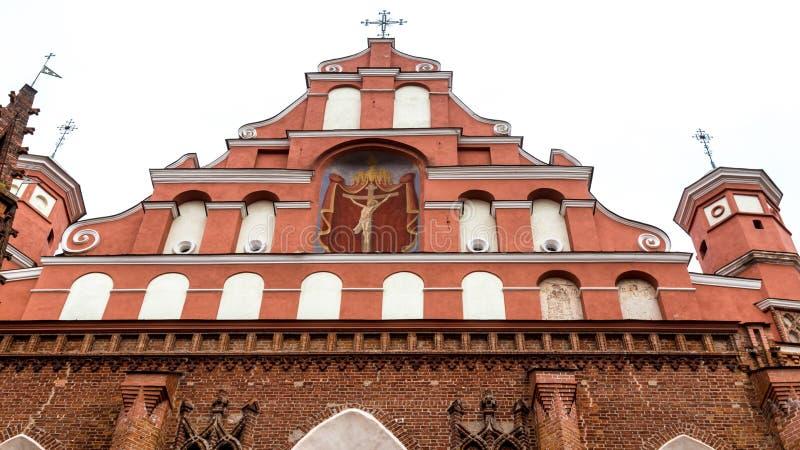 Igreja Vilnius Lituânia de Bernadine fotografia de stock