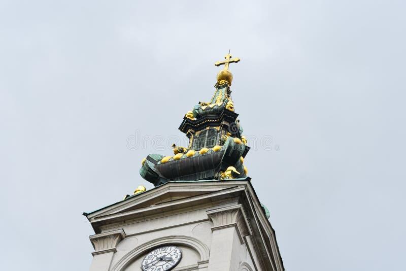 Igrejas velhas na cidade de Novi Sad fotos de stock royalty free