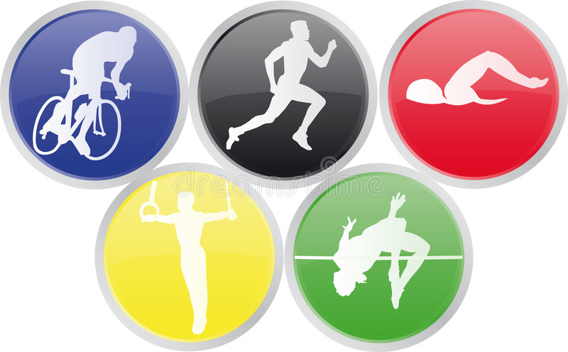 igrzysk olimpijskich ikon sporty. royalty ilustracja