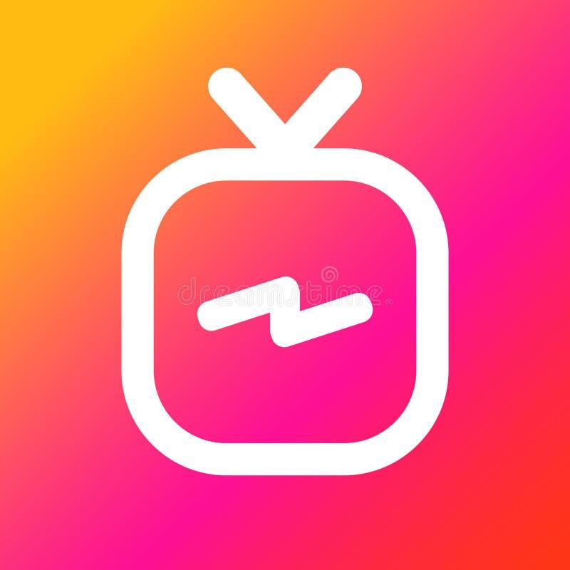 IGTV-pictogramreeks vector illustratie