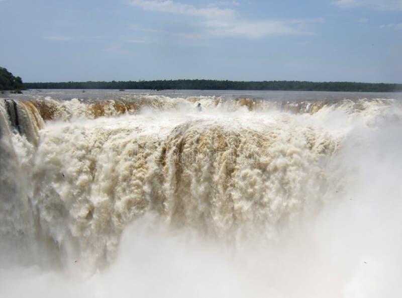 Iguacu baja parque nacional foto de archivo