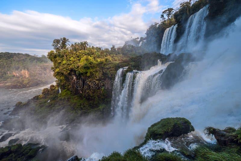 Iguacu cade dal lato dell'Argentina fotografie stock