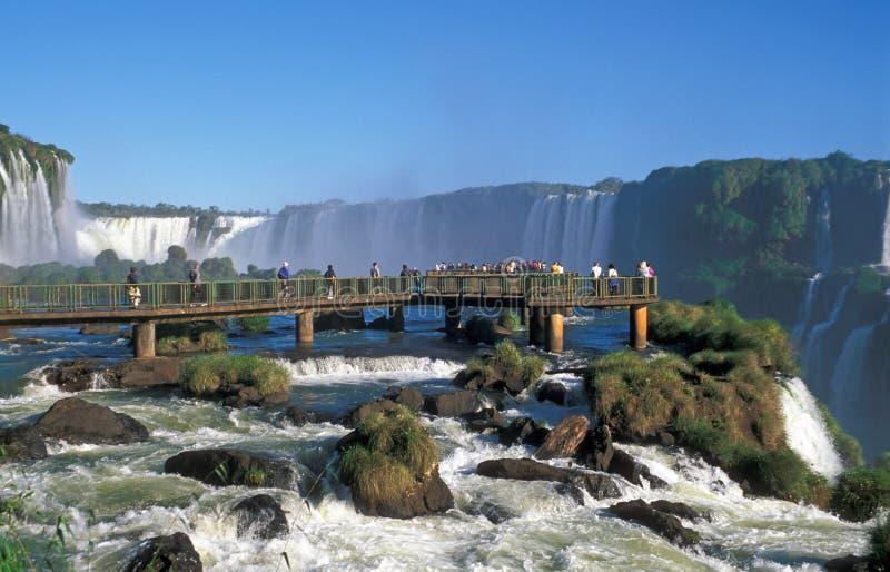 Download Iguacu Falls stock photo. Image of view, blue, river, boulders - 4156360