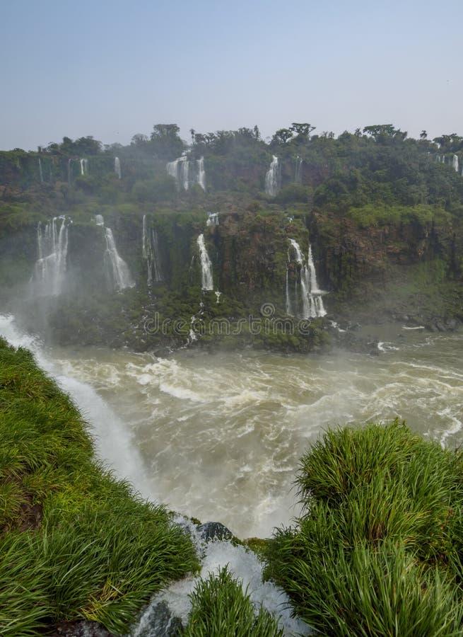 Iguacu nedgångar i Brasilien royaltyfria foton