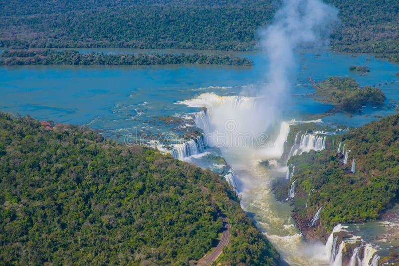 Iguacu-Wasserfälle stockbilder