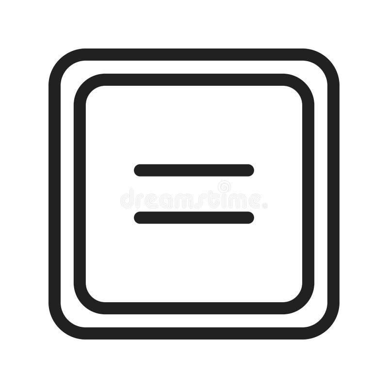 Igual ao símbolo ilustração stock