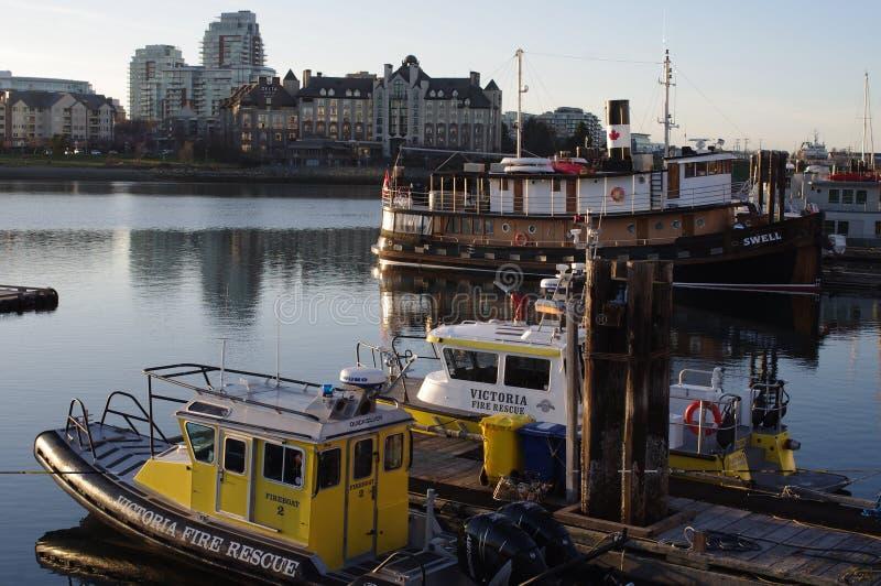 Igualación de la opinión Victoria Inner Harbour fotografía de archivo libre de regalías