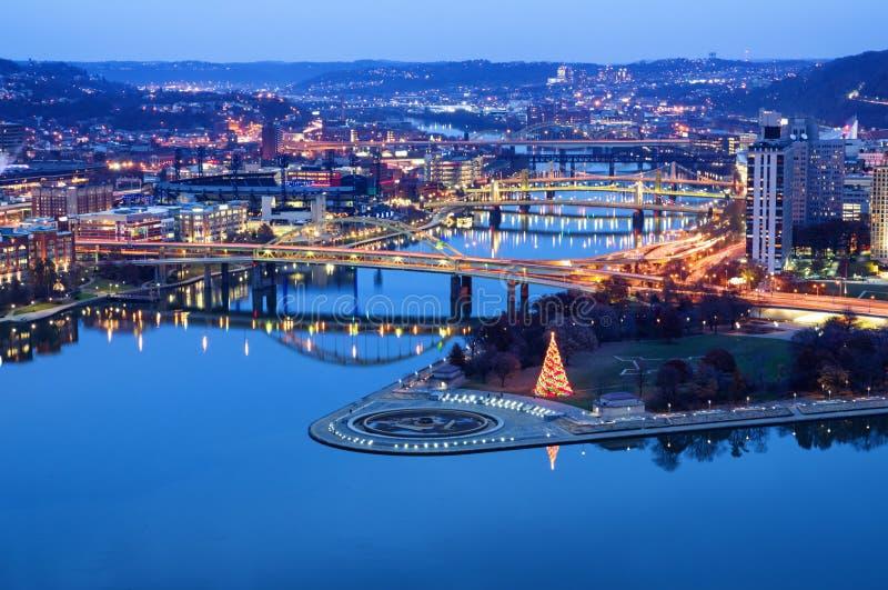 Igualación de la vista de Pittsburgh Pennsylvania, los E.E.U.U. foto de archivo