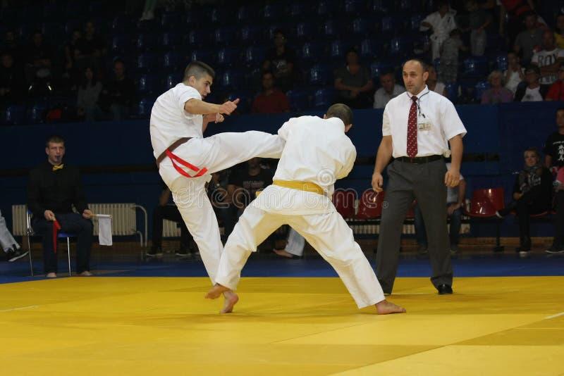 Igualación de los artes marciales foto de archivo