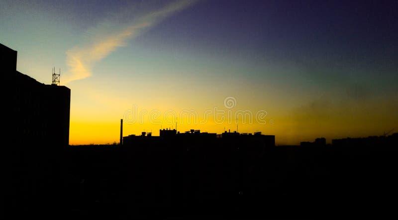 Igualación del cielo en St Petersburg imagen de archivo libre de regalías