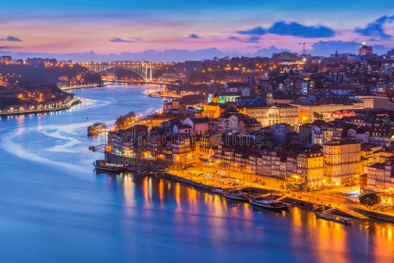 Igualación del paisaje urbano de Oporto Oporto, Portugal imagen de archivo