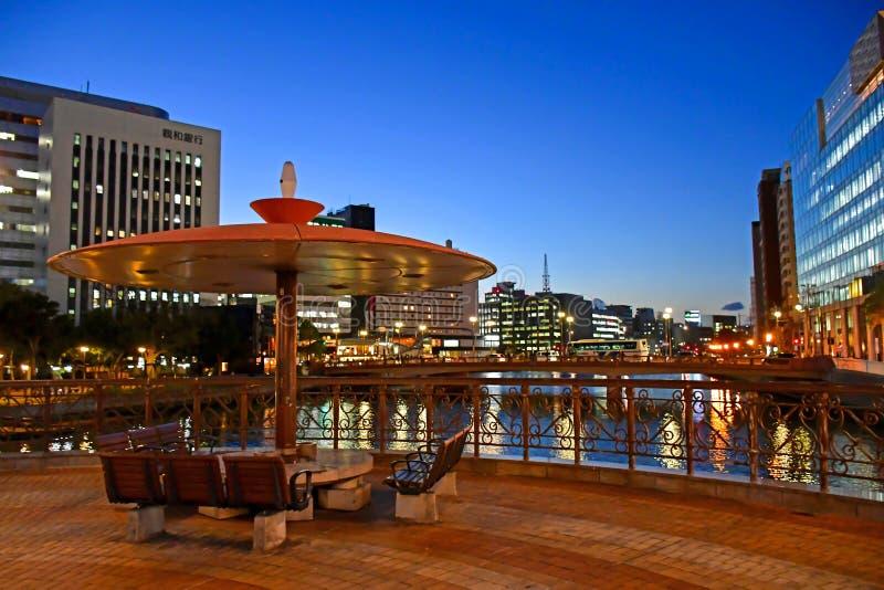 Igualación del tiro de Naka River, ciudad de Fukuoka fotos de archivo