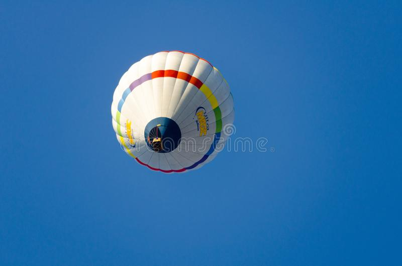 Igualada, Barcelona, July 12, 2019, 23rd European Balloon Festival. Hot air balloon festival, competition flights. Concentration of aerostatic balloons from royalty free stock photos