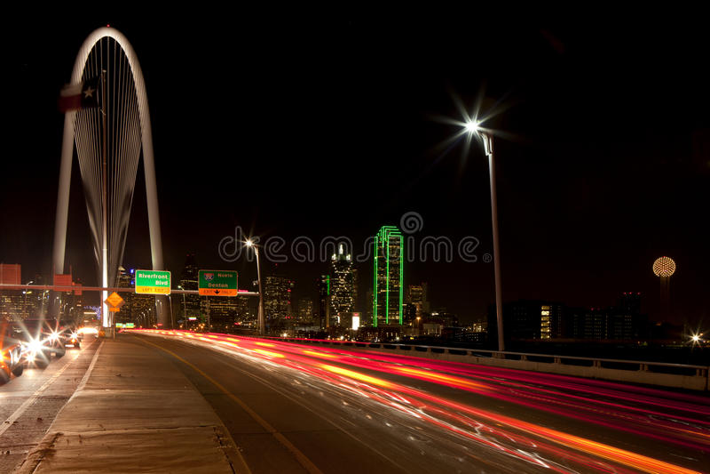 Igualando conmute en Dallas céntrica, Tejas imagen de archivo libre de regalías