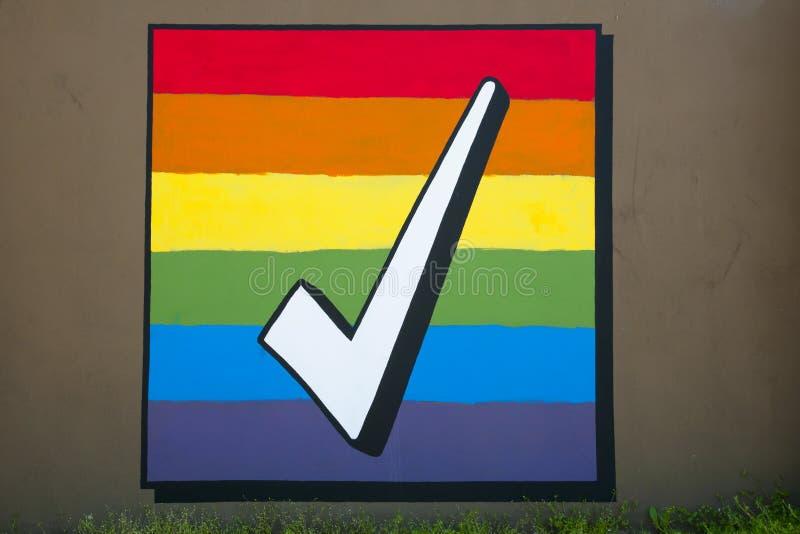 Igualdad del matrimonio homosexual fotografía de archivo libre de regalías