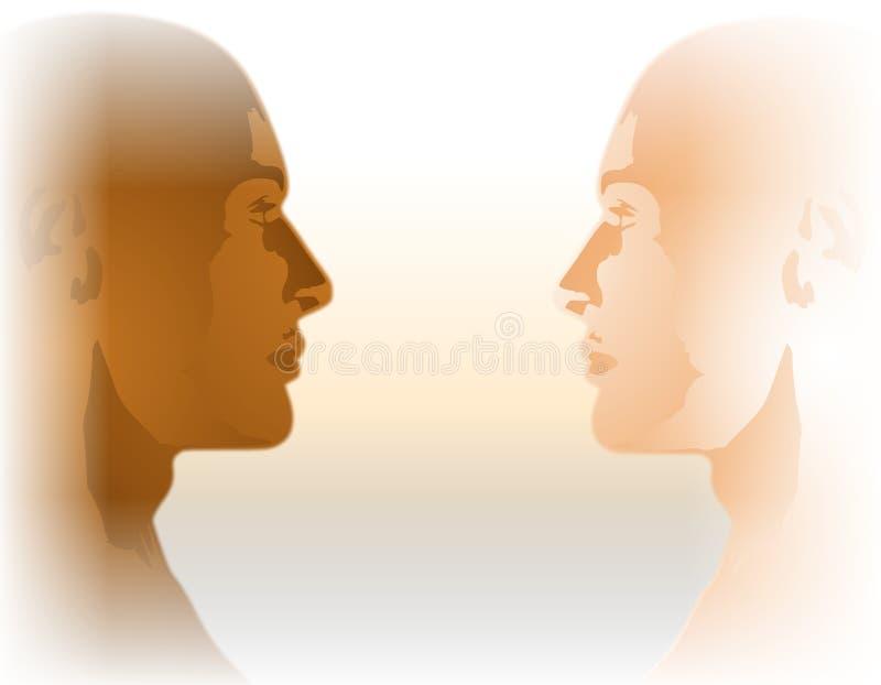 Igualdad racial cara a cara libre illustration