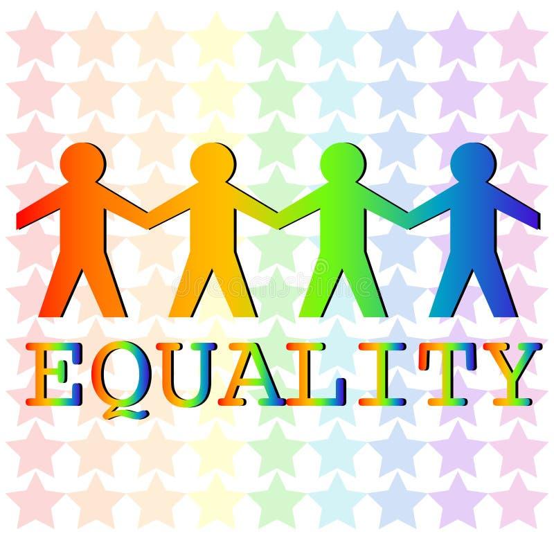 igualdade ilustração royalty free