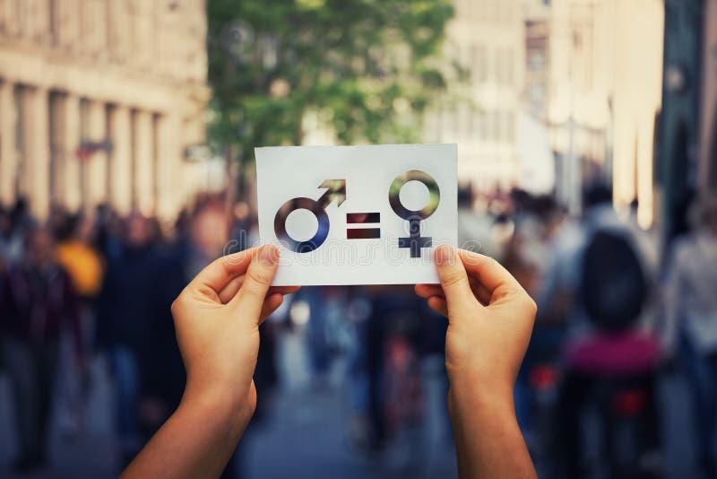 Igualdade de gênero foto de stock